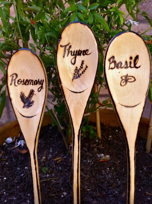10 almost too cute diy herb markers for Markers for wood crafts